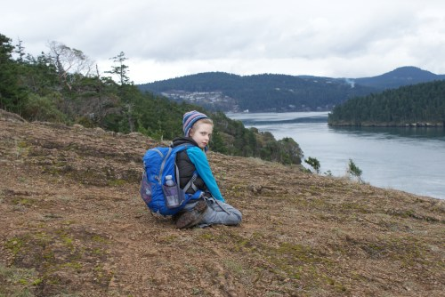 hiking with children, anacortes, washington park