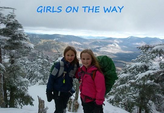 girls on the way, kids hiking, trish herr, patricia ellis herr