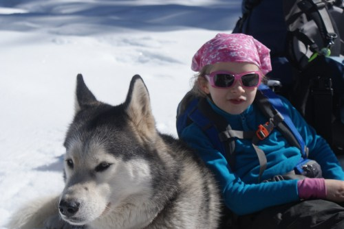kids and dogs, snowshoeing, winter hiking, gold creek