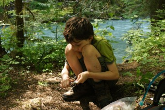 kids in nature, thunder creek, north cascades, kids hiking