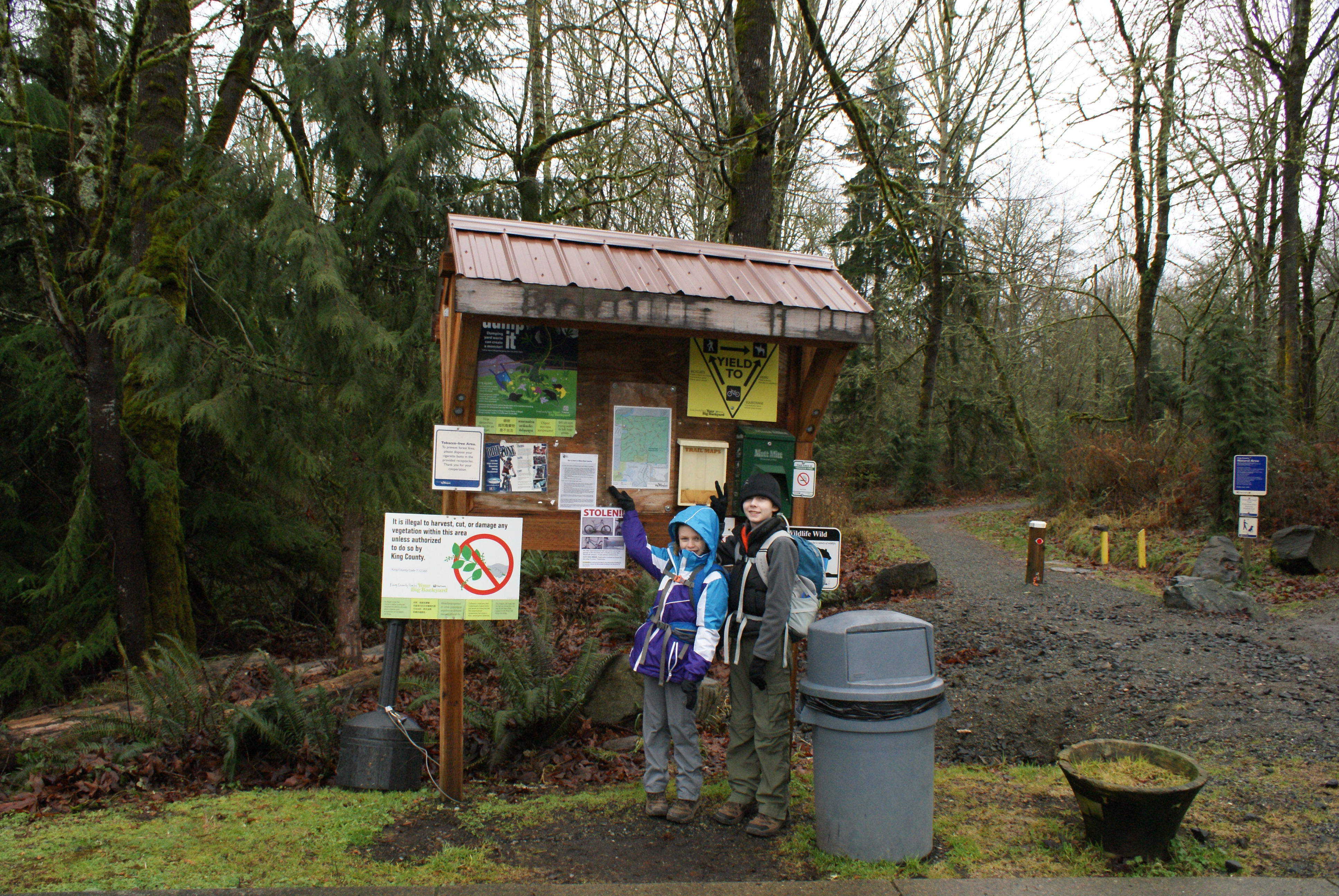 soaring eagle regional park, hiking with kids, winter hiking