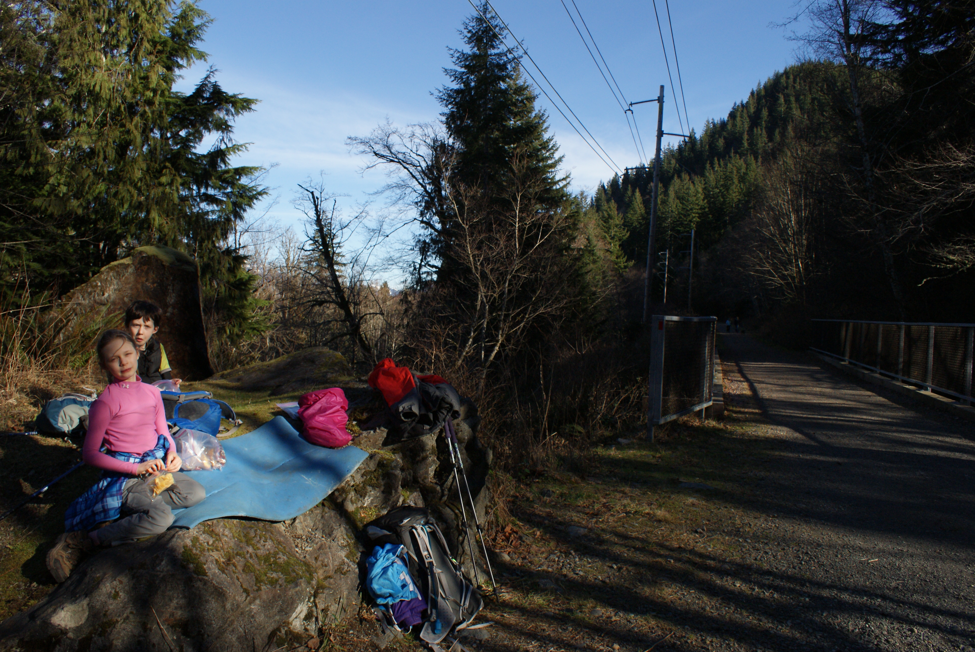 hiking with children, winter hikes washington, rails to trails