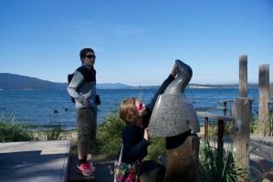 hiking anacortes, public art, kids in nature