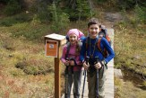 Blue Lake, north cascades, hiking with children, fall hikes
