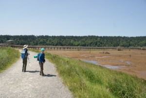 Nisqually national wildlife refuge, hiking with children