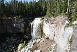 newberry volcanic monument, paulina lake, waterfalls in central oregon