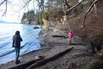 larrabee state park, hiking with children, winter hiking