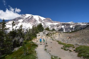 mount rainier national park, hiking with children, best hikes for kids, glacier view trail, paradise