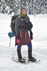 winter, gold creek, snowshoe, adventure mamas, women who hike, hillsound gaiters, smartwool, skhoop skirts, nikon, lowepro, rei