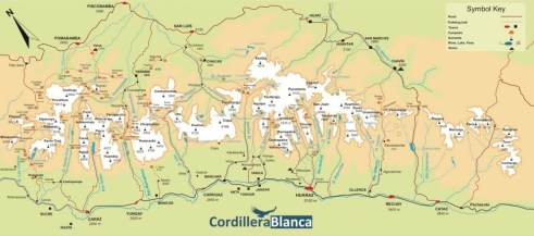 Cordillera Blanca Overview Map