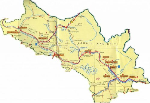 Lahaul-Valley-and-Spiti-Valley-India-Tourist-Map