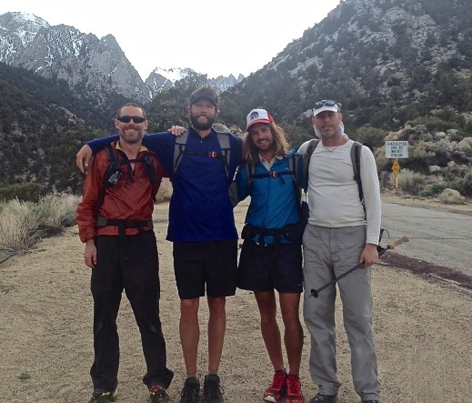 (L to R) Swami, Dirtmonger, Bobcat and Malto | On the way back to Lone Pine after the Lowest to Highest Route | The End.