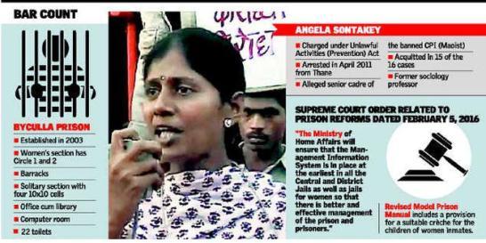 Angela Sontakey, Byculla jail.
