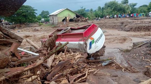 Indonesia landslips, floods kill 55 people; dozens missing