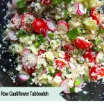 Raw Cauliflower Tabbouleh