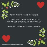 Christmas Week Mission – Giving Thanks