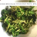 chicken-broccolini w/ coconut pesto