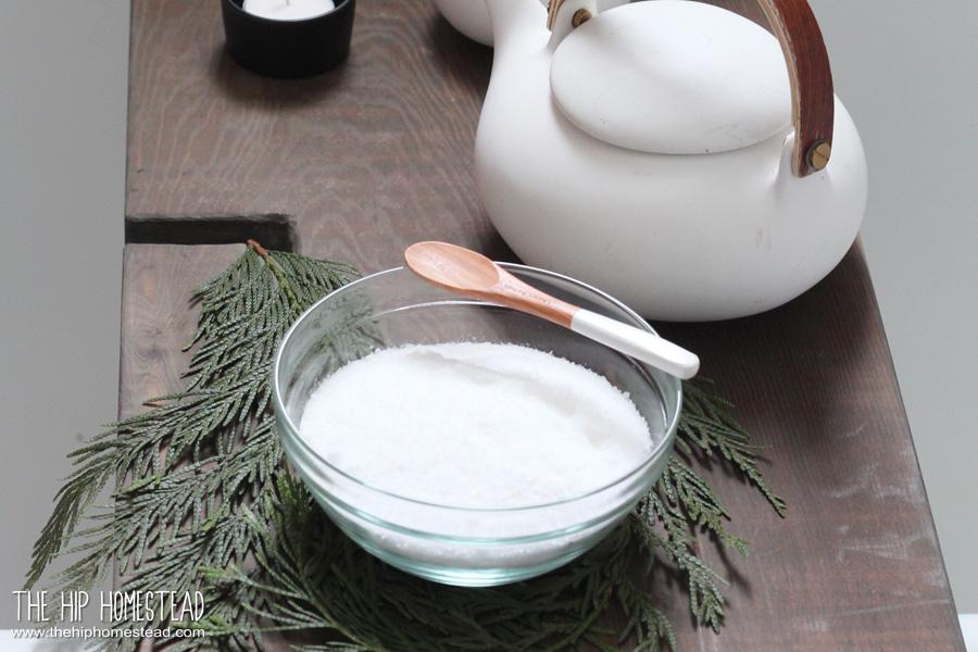 DIY Cedar Oil Bath Salt The Hip Homestead
