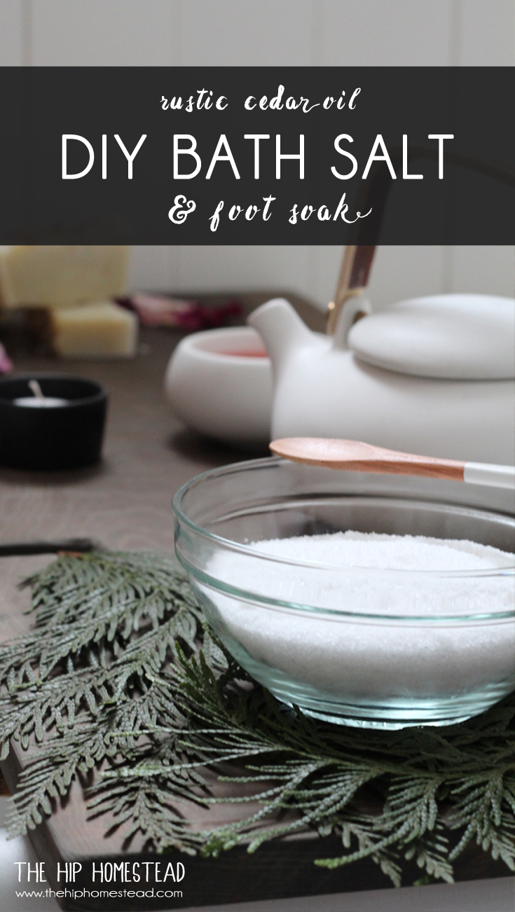 DIY Cedar Oil Bath Salt The Hip Homestead