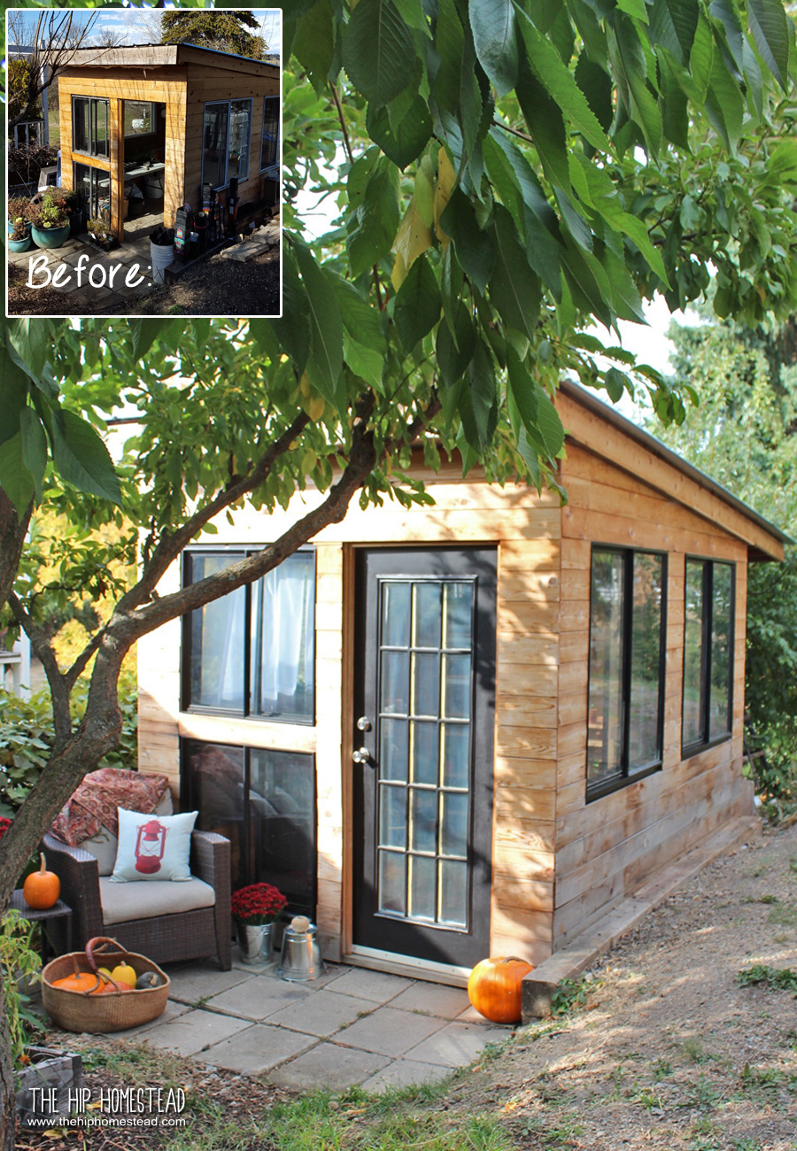 Before & After: Cool & Eclectic Garden Shed Reveal - The Hip Homestead