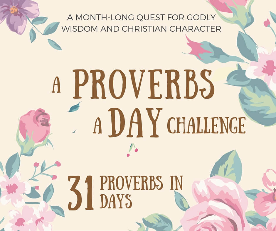 A Proverbs a Day Challenge // 31 Proverbs in 31 Days // www.thehisfor.com