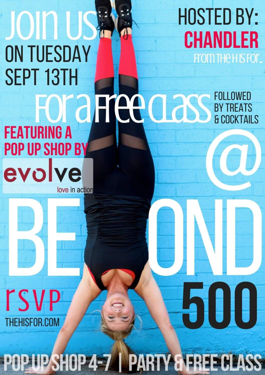 Evolve Trunk Show and Workout at Beyond 500 Party // You're Invited // www.thehisfor.com
