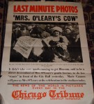 1924 Chicago Day celebration featuring descendant of Mrs. O'Leary's cow