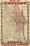 Map of Chicago with fire zone in pink
