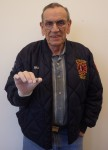 Bill Hermstedt holds Revolutionary musket ball with human blood he discovered at Monmouth Battlefield. Photo courtesy Dan Sivilich/BRAVO.