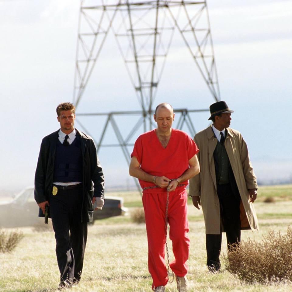 """David. If you kill him. He will win"" - Brad Pitt, Kevin Spacey and Morgan Freeman in"