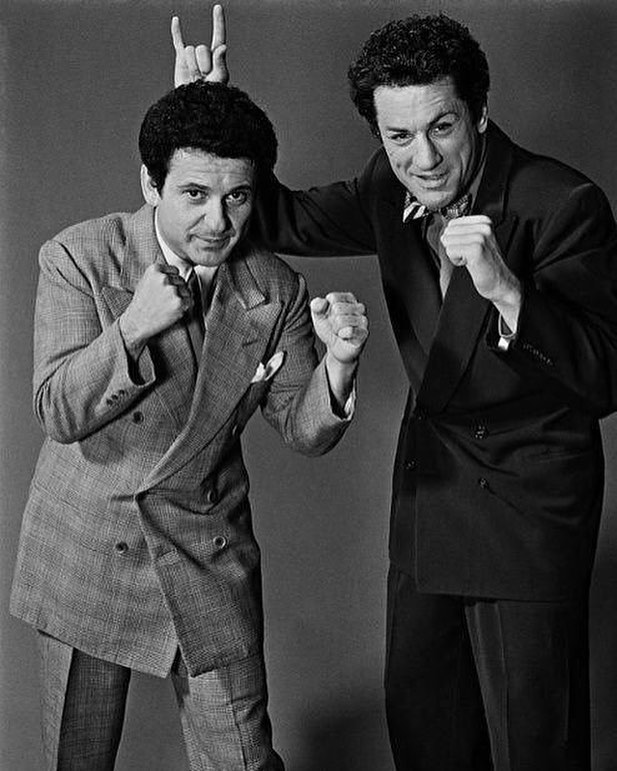Joe Pesci and Robert De Niro. 'Raging Bull' (1980) behind the scenes