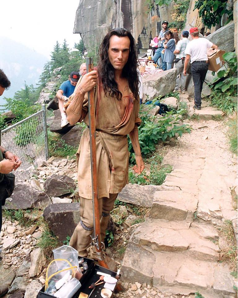 Daniel Day-Lewis on the set of 'The Last of the Mohicans' (1992)