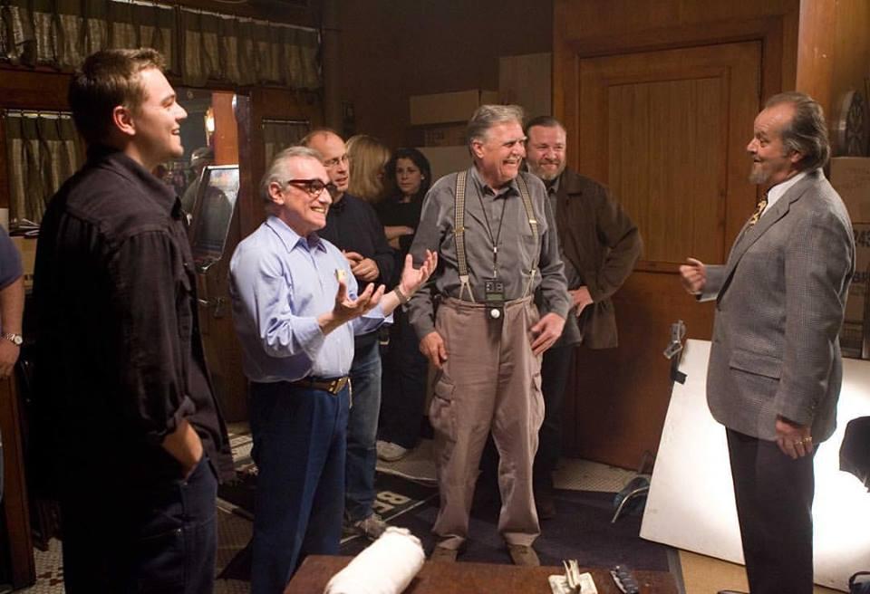 Leonardo DiCaprio, Jack Nicholson, Martin Scorsese, Ray Winstone and Michael Ballhaus behind the scenes of