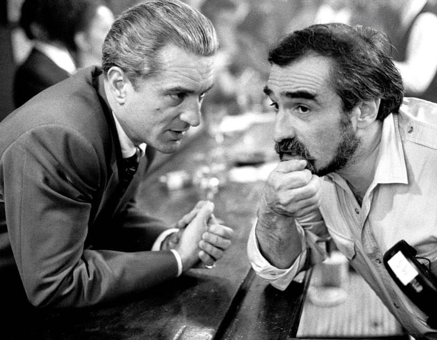 Martin Scorsese and Robert De Niro behind the scenes of
