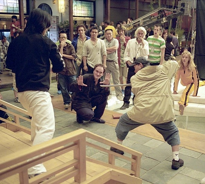 "Quentin Tarantino directing the ""The Bride vs The crazy 88's"" fight scene in 'Kill Bill: Vol. 1' (2003)"