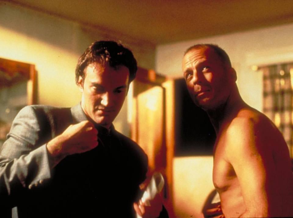 Quentin Tarantino directing Bruce Willis in