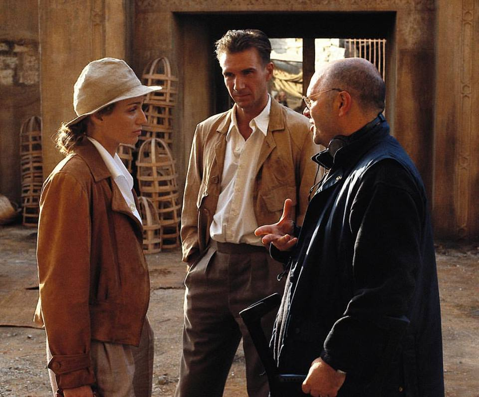 Late director Anthony Minghella with Ralph Fiennes and Kristin Scott Thomas behind the scenes of