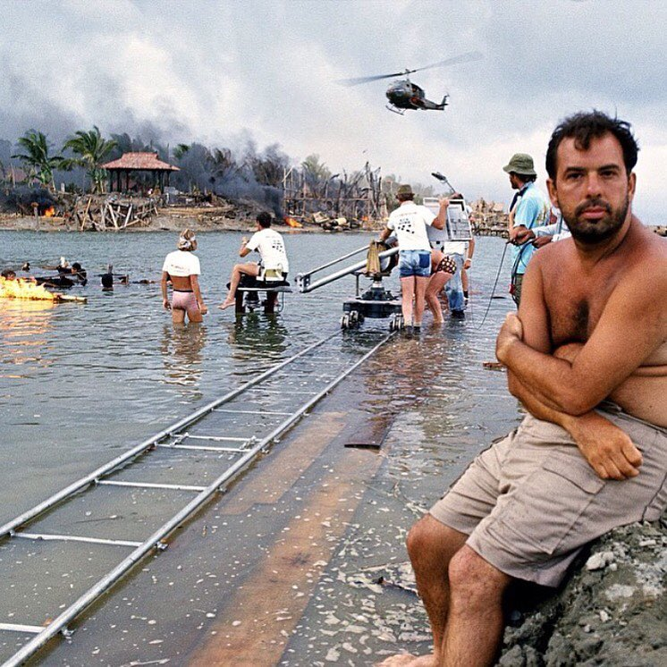Francis Ford Coppola on the set of