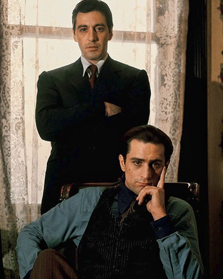 Al Pacino and Robert De Niro: Michael and Vito Corleone in 'The Godfather: Part II' (1974)