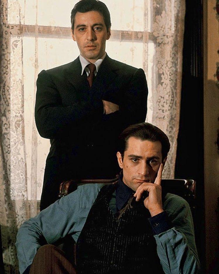 Al Pacino and Robert De Niro: Michael and Vito Corleone in