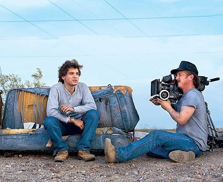 Sean Penn filming and directing Emile Hirsch in