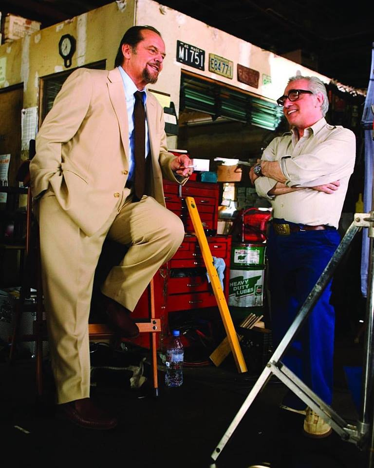 Jack Nicholson and Martin Scorsese behind the scenes of