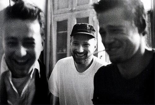 Edward Norton, David Fincher and Brad Pitt behind the scenes of