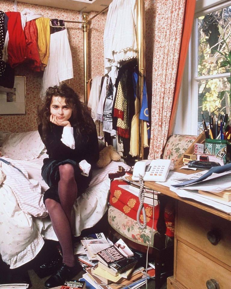 Helena Bonham Carter at home, circa 1980s