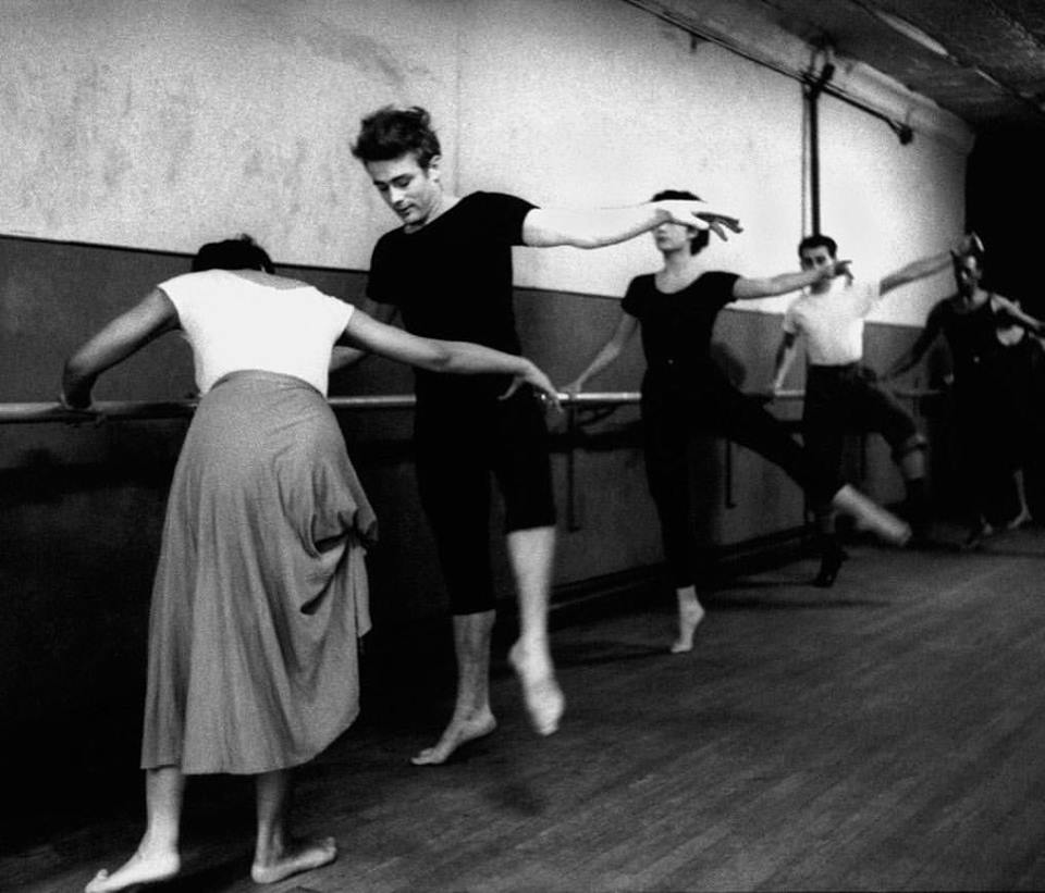 James Dean attending dance classes given by Katherine Dunham, New York City, 1955