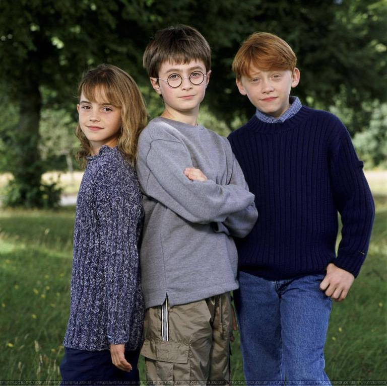 'Harry Potter and the Sorcerer's Stone' (2001) • Promo shot of Daniel Radcliffe, Rupert Grint & Emma Watson