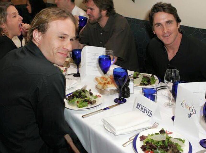 Last dinner between Christian Bale and Heath Ledger, 2007