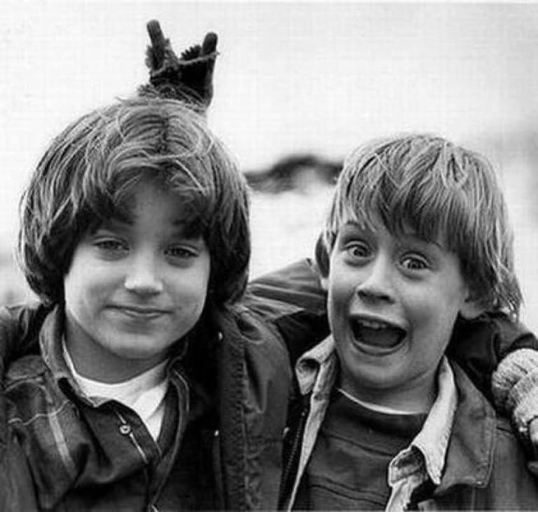 Elijah Wood and Macaulay Culkin, 1993