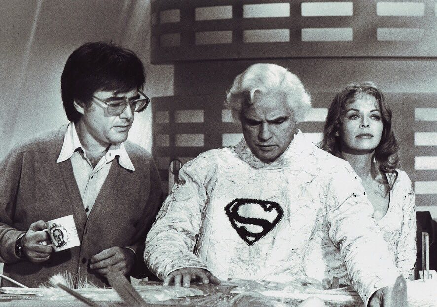 Behind the scenes: Richard Donner directs Marlon Brando and Susannah York in