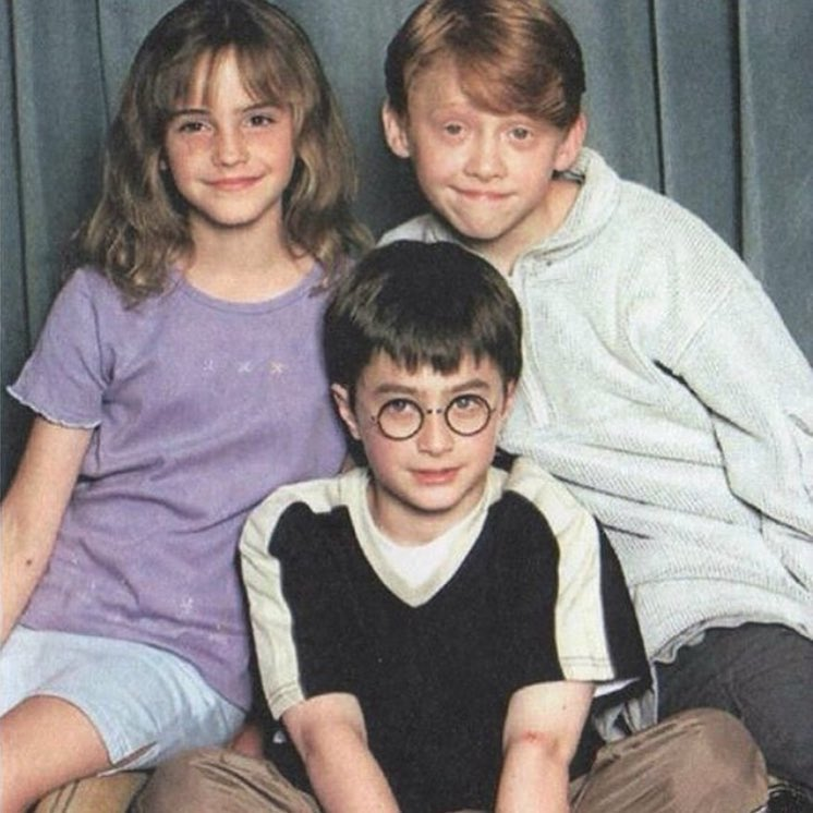 Daniel Radcliffe, Emma Watson and Rupert Grint in the